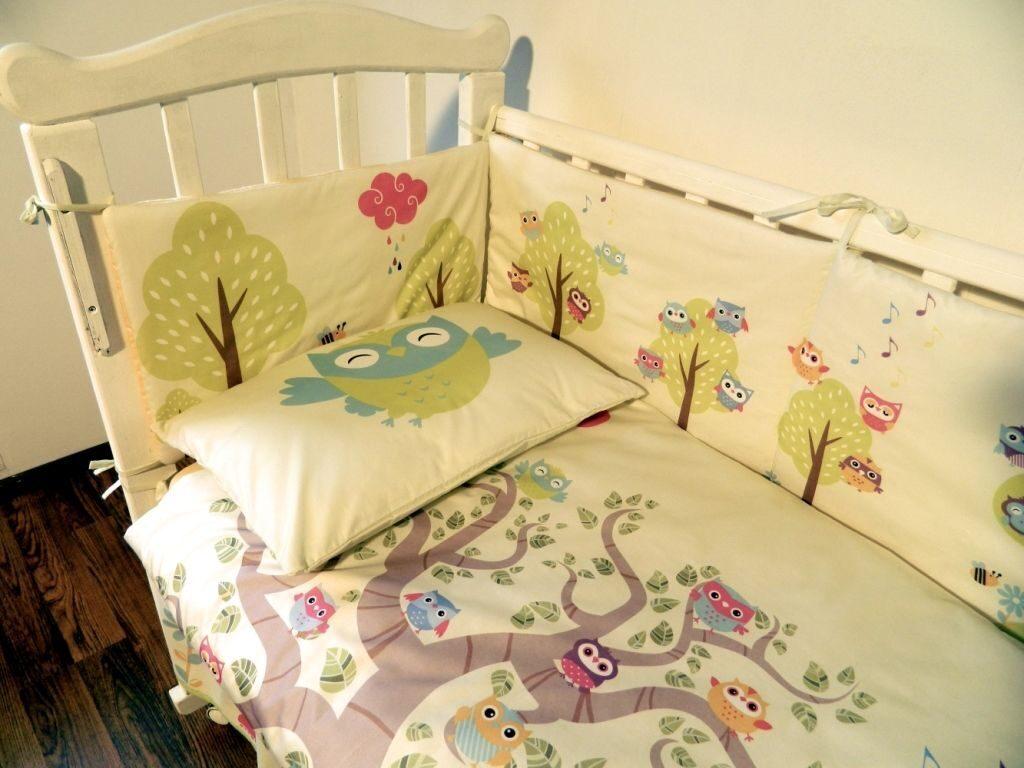 Комплект постельного белья для новорожденного с бортами