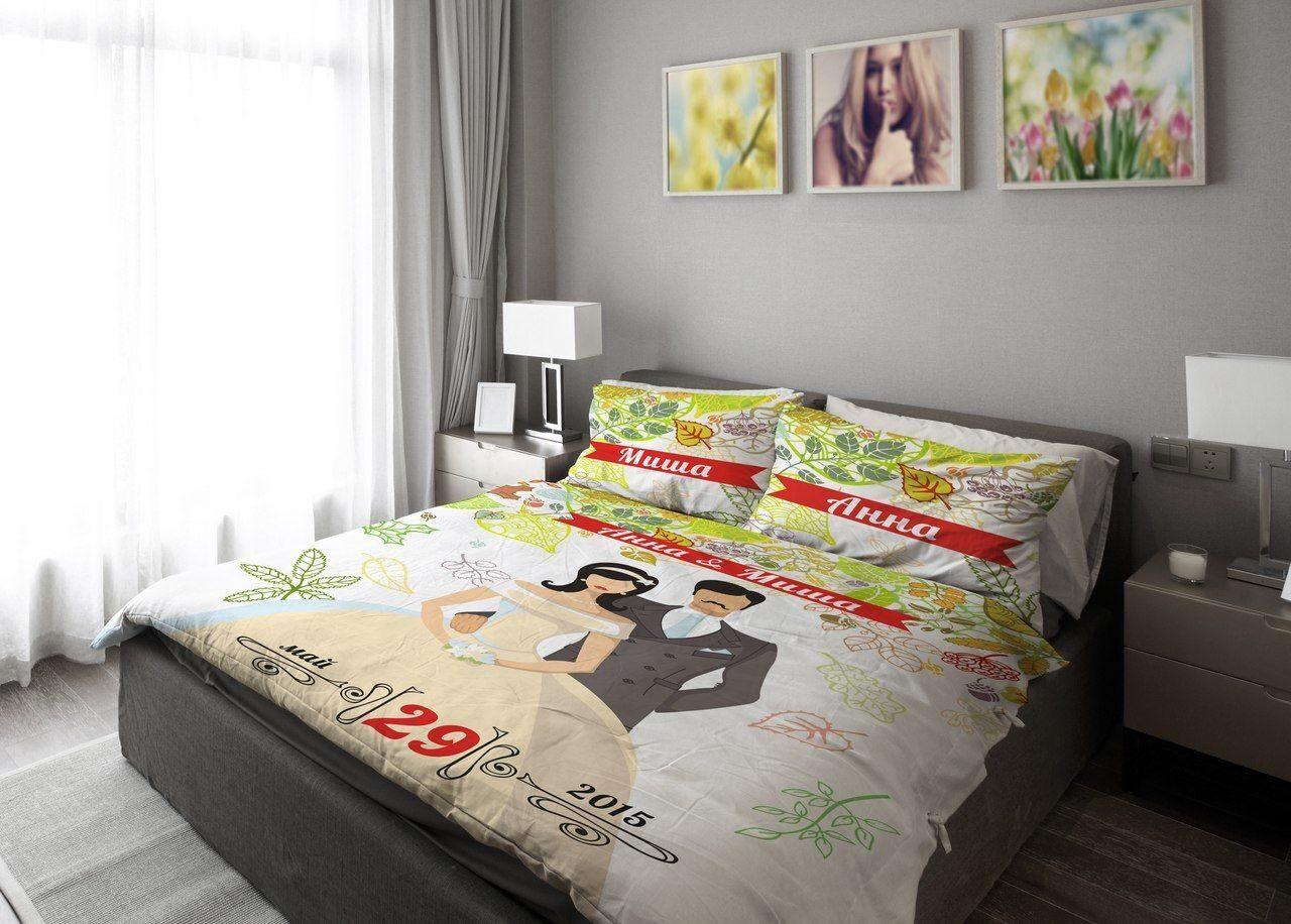 Свадебное постельное бельё в подарок 73